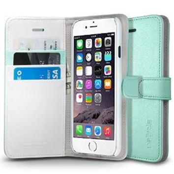 iPhone 6s Case, iPhone 6 Case Wallet, Spigen® [Wallet S] Stand Feature [Mint] Premium Wallet Case with STAND Flip Cover for iPhone 6s (2015) / iPhone 6 (2014) - Mint (SGP10974)