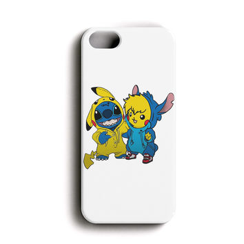 """Apple Iphone 5/5s 4.0"""" Case - The Best 3d Full Wrap Iphone Case - Pikachu And Stitch"""
