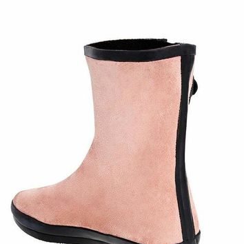 Buckle Detail Pink Welly Boots