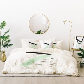 Viviana Gonzalez Minimal black and mint II Bed In A Bag | Deny Designs