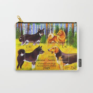 100 Years Union of Finnish Dog Breeders Carry-All Pouch by lanjee
