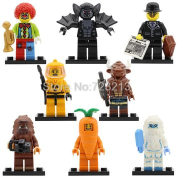Single Sale Tauren Vampire Bat Clown Snow Business Carrot Man Figure Nuclear Workers Bigfoot Building Blocks Bricks Toys