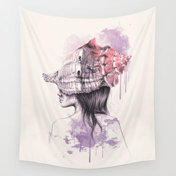 Inside my shell Wall Tapestry by EDrawings38