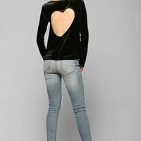 Pins And Needles Velvet Heart Back Top - Urban Outfitters