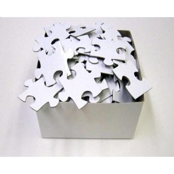Extra Large Blank White Puzzle Pieces Wedding Guest Book for Large Wedding (approx. 20 x 30)