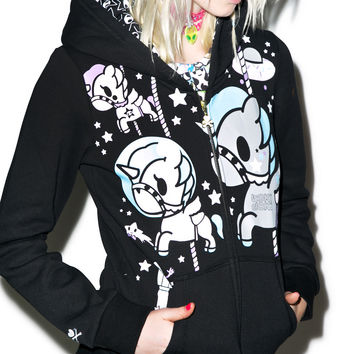 Tokidoki Space Out Hoodie Black