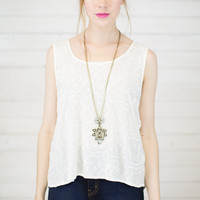 Rayon Scoop Neck Tank