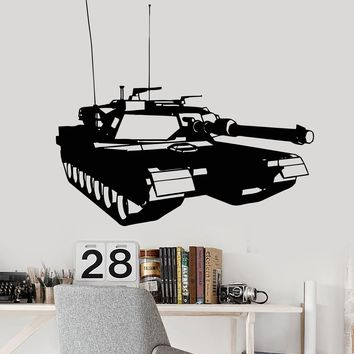 Vinyl Wall Decal Tank Military War Boys Room Children's Room Stickers Unique Gift (095ig)
