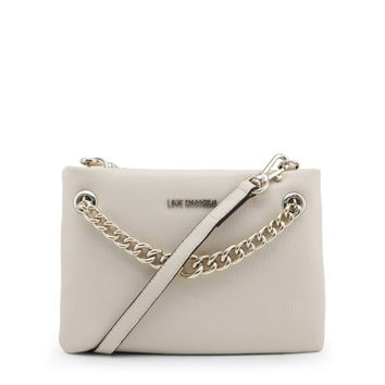 Love Moschino White Synthetic Leather Clutch Bag