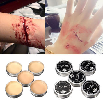 Special effects makeup Halloween fake scars eyebrow skin wax blocking agent drama Special makeup  Halloween Fake Wound Scar Wax
