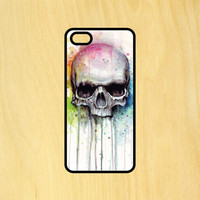 Skull Watercolor V2 Phone Case iPhone 4 / 4s / 5 / 5s / 5c /6 / 6s /6+ Apple Samsung Galaxy S3 / S4 / S5 / S6