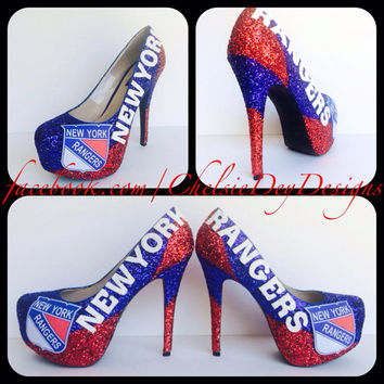 New York Rangers Glitter High Heels