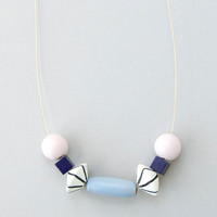 Wooden Beaded Necklace in Pastel by This Way To The Circus