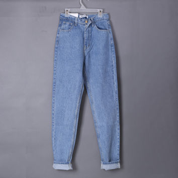 2016 fashion women vintage American brand jeans Boyfriend Casual denim jeans  high waist jeans womens