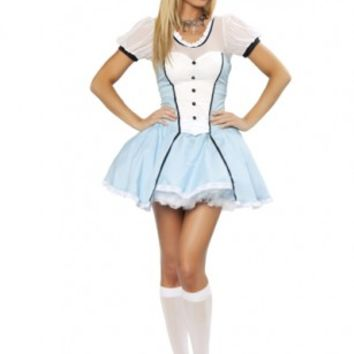 2 PC Victorian Alice Costume @ Amiclubwear costume Online Store,sexy costume,women's costume,christmas costumes,adult christmas costumes,santa claus costumes,fancy dress costumes,halloween costumes,halloween costume ideas,pirate costume,dance costume,cos