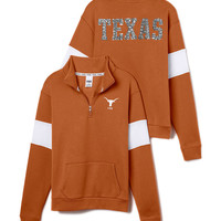 University of Texas Bling Half-Zip Pullover
