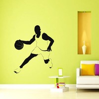 Basketball Player Wall Decal Vinyl Sticker Game Sport Wall Decor Home Interior Design Art Mural Boy Room Kids Nursery Bedroom Dorm Z750