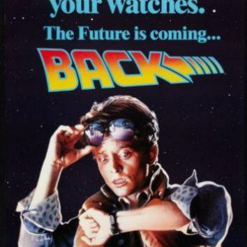 Back To The Future 2 movie poster Sign 8in x 12in