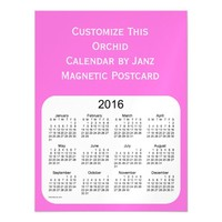 2016 Orchid Calendar by Janz Magnet Magnetic Invitations
