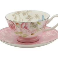 Beau Rose Fine Bone China Tea Cup & Saucer