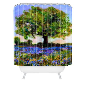 Ginette Fine Art Texas Hill Country Bluebonnets Shower Curtain