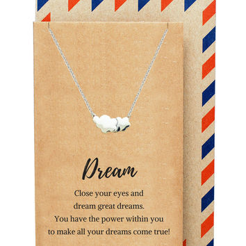 Ceres Cloud Necklace, Inspirational Jewelry
