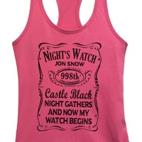 Womens Game of Thrones - Night's Watch Jon Snow Grapahic Design Fitted Tank Top