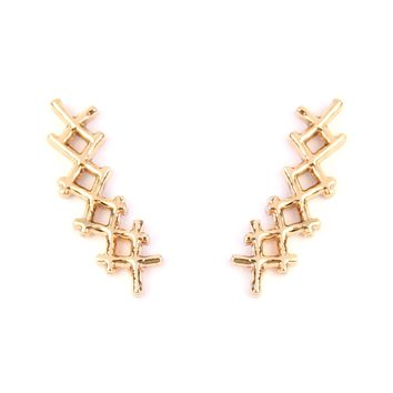 Criss-Cross Crawler Earrings