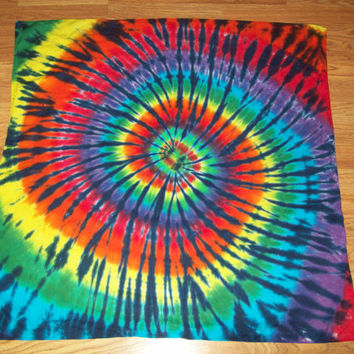 Tie Dye Tapestry 35x35, Wall Hanging, Rainbow Tiger, curtain, table cloth, sheet