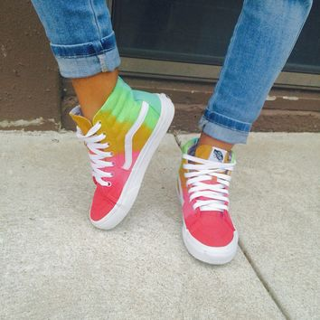 "Custom ""Tropical Lay"" Hi Sk8 Vans"