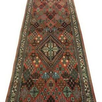 Meymeh Red Wide Runner Persian Handmade Rug 3' x 14' Rich All-Over Floral Rug