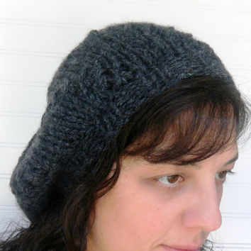 Hand Knit Beret Extra Slouchy by WindyCityKnits on Etsy