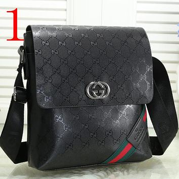 Casual Simple Men Leather Crossbody Bag