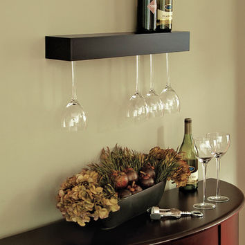nexxt Design Pinot 15 Bottle Wall Mount Wine Glass Rack
