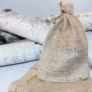 100 Burlap Bags 4x6 For Party Favors With Drawstring Jute Rustic Wedding Party Reception Supplies