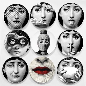 Piero Fornasetti Decorative Plates