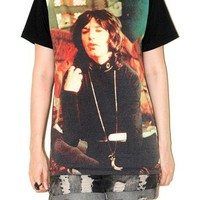 Mick Jagger The Rolling Stones Black Tee Indie Rock T-Shirt Size M