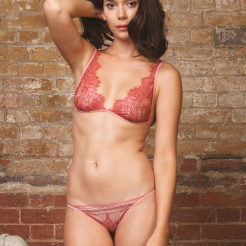 Sweet Juliet Chantilly Lace Soft Bra and Panty Lingerie set      Lingerie / Underwear Made to Order