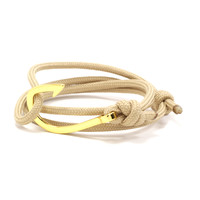Gold Hook on Tan Rope