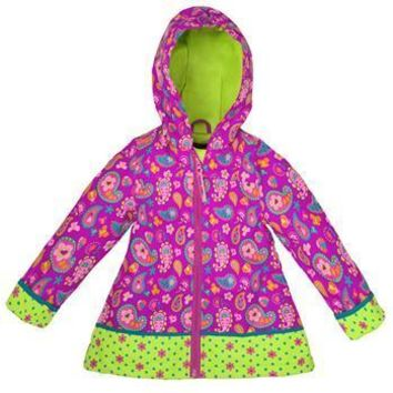 All Over Print Paisley Garden Raincoat