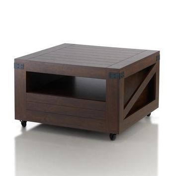 Jamber Modern Coffee Table in Vintage Walnut