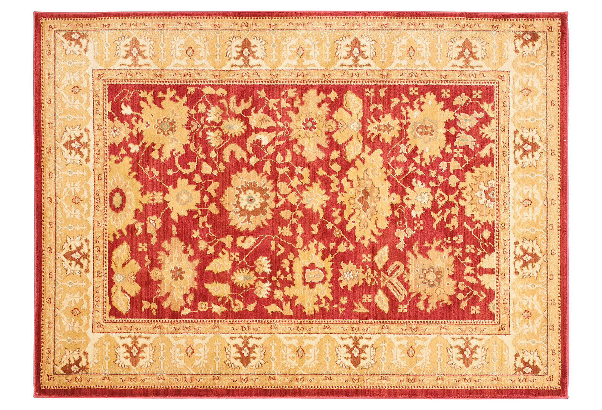 Henri rug red gold area rugs from one kings lane things i for Red and gold area rugs