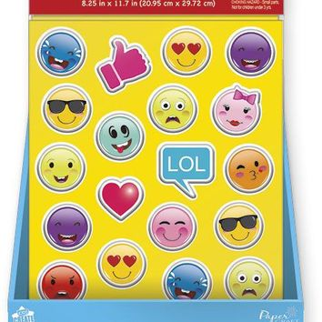 bubble stickers - emoticons Case of 24