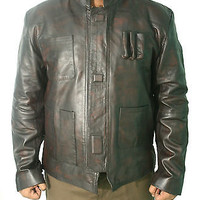 The Force Awaken Star Wars Brown Distressed Leather Jacket