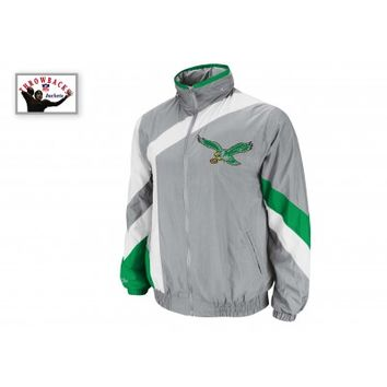 Philadelphia Eagles One on One Windbreaker - Tailored - Mitchell & Ness
