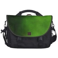 Emerald Green Ombre Left Bag Laptop Commuter Bag from Zazzle.com