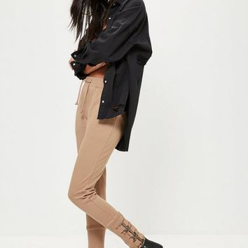 Missguided - Nude Buckle Ankle Joggers