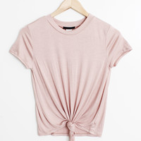 Front Knot Tee