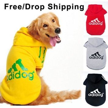 Dog Clothes For Dogs Large Size Winter Autumn Coat Big Dogs Hoodie Apparel 100% Cotton Provide 3xl  9xl Free Drop Shipping D25