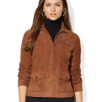 Lauren Ralph Lauren Suede Full Zip Jacket